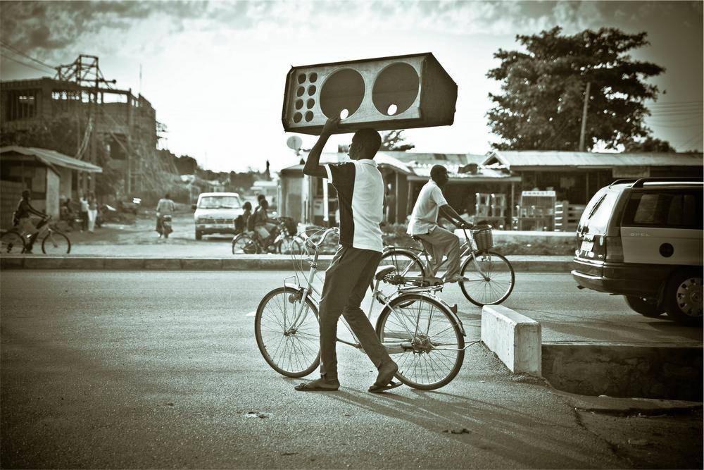 """Do you want a bicycle at this very moment?"" ""Not really, but your speakers look awesome!"""