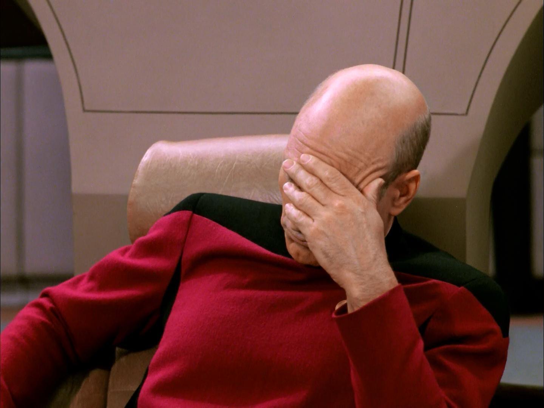 Startups ain't Star Trek, but I feel Picard's pain.