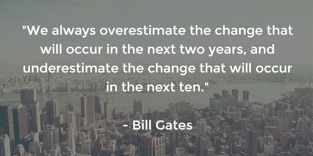 Exponential Growth - Bill Gates Quote