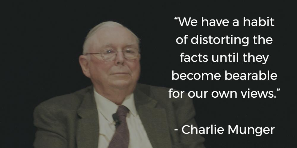 Charlie Munger Quote on Cognitive Dissonance