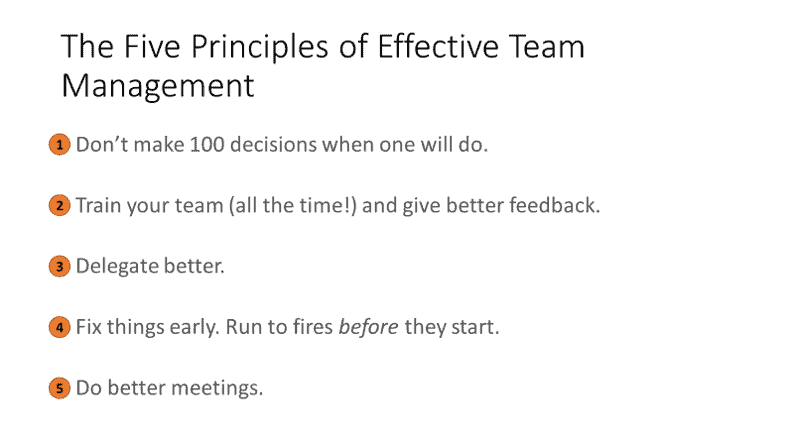 Team management 101