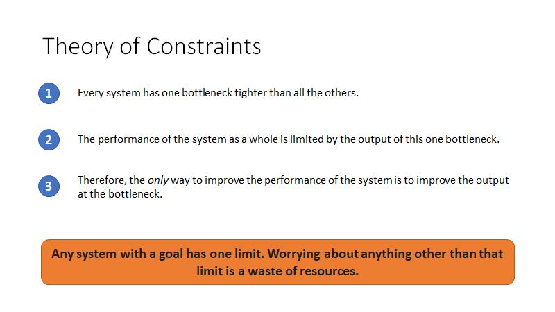Theory of constraints - Summary